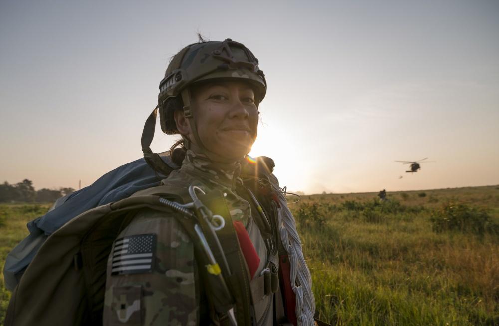 Airborne soldier at Fort Bragg; photo by Master Sgt. Michel Sauret