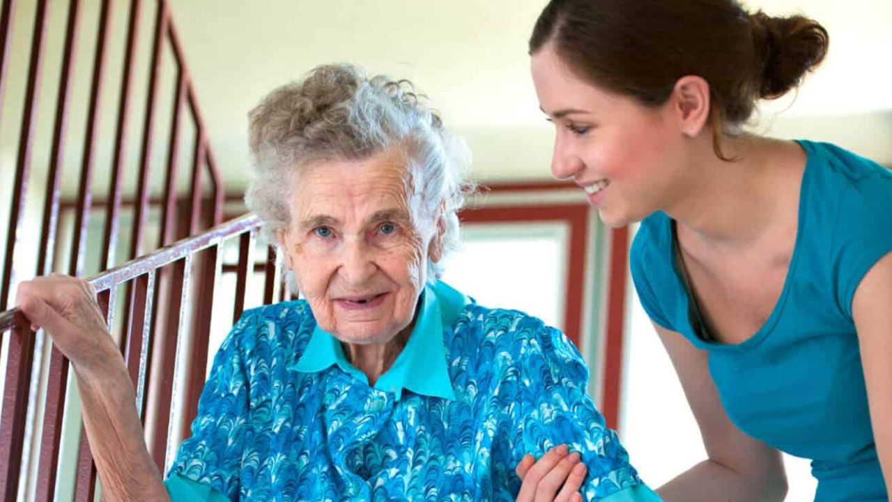 Home care specialist with client