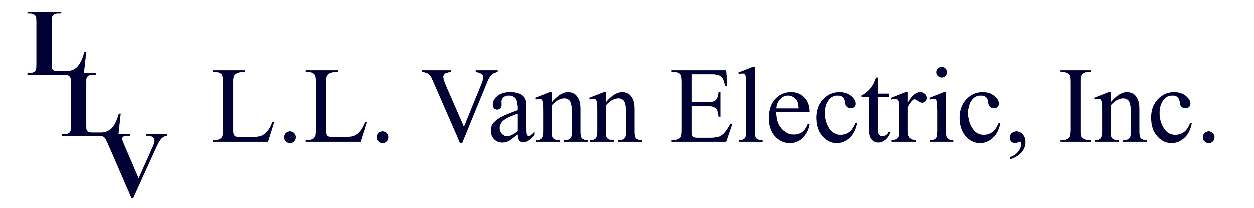 LL Vann Electric logo