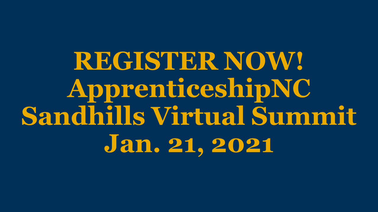Register for the ApprenticeshipNC Sandhills Virtual Summit