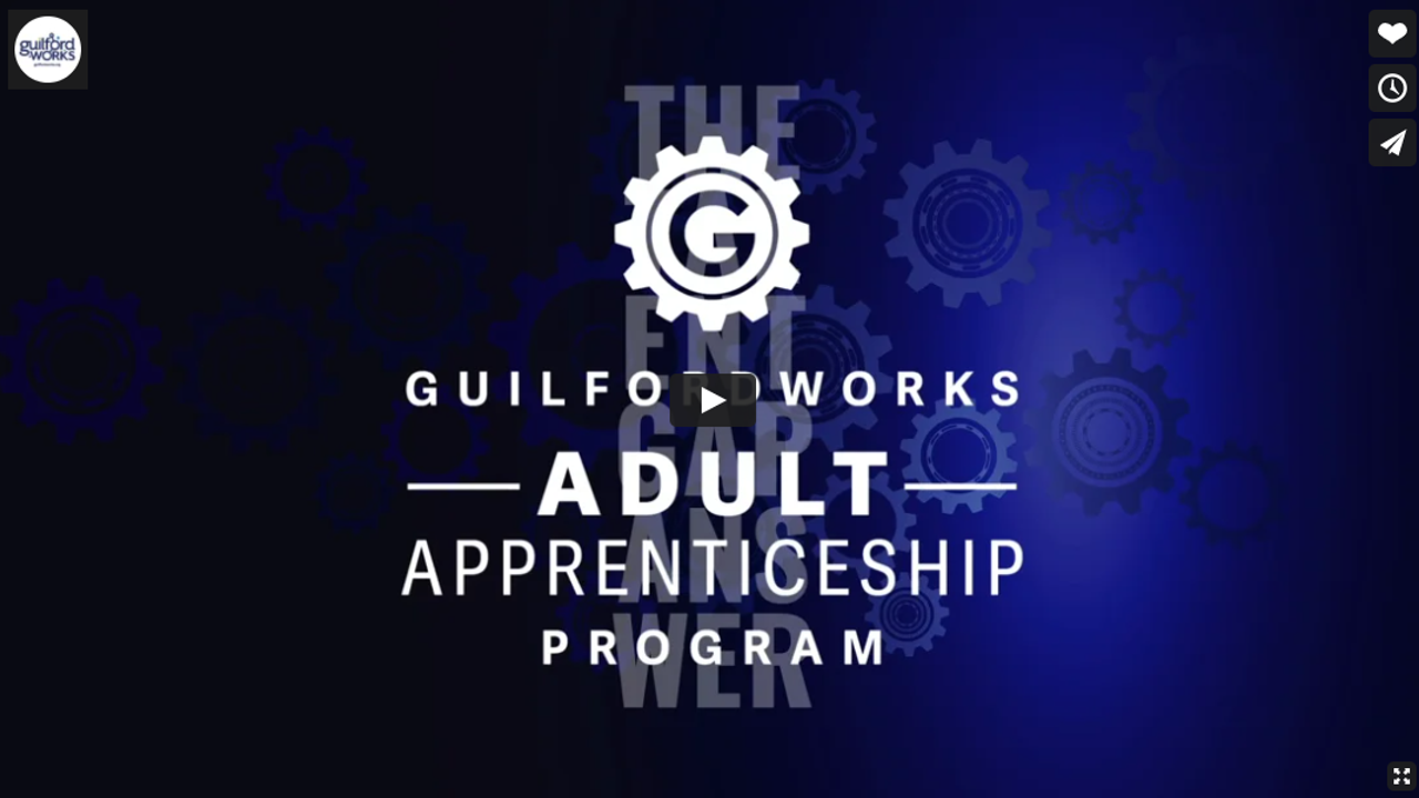GuilfordWorks Adult Apprenticeship Program video image